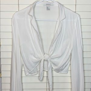 Forever 21 Contemporary tie front blouse | Size M